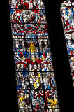 Stained glass in cathedral Stock Photography
