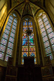 Stained glass  in the cathedral  the Dutch city of Den Bosch Stock Photo