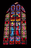 Stained glass in cathedral of Fougères Royalty Free Stock Images