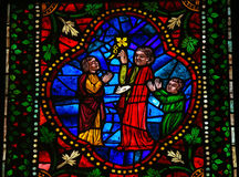 Stained Glass in the Cathedral of Leon, Spain Royalty Free Stock Photography