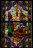 Stained Glass in the Cathedral of Leon, Spain Stock Photos