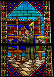 Stained Glass in the Cathedral of Leon, Spain Stock Images