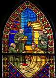 Stained Glass in the Cathedral of Leon, Spain Stock Photography