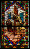 Stained Glass in the Cathedral of Leon, Spain Stock Photo
