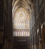 Stained Glass in Cathedral Royalty Free Stock Photography