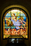 Stained glass of Cathedral of San Juan Bautista, San Juan Stock Image