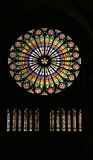 Stained glass in cathedral - Strasbourg, France Royalty Free Stock Photos