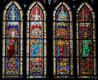 Stained Glass in Cathedral of Strasbourg, France Stock Image