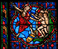 Stained Glass - Cathedral of Tours Stock Image