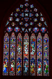 Stained glass at cathedral Stock Photography
