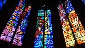 Stained Glass Cathedral Windows Royalty Free Stock Photo