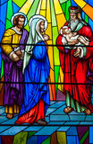 Stained Glass in a Catholic Church Royalty Free Stock Image