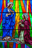 Stained Glass in a Catholic Church Royalty Free Stock Photography