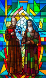 Stained Glass in a Catholic Church Stock Images