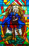 Stained Glass in a Catholic Church Stock Image