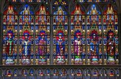 Stained Glass - Catholic Saints Royalty Free Stock Photography