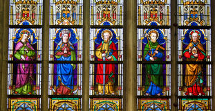 Stained Glass - Catholic Saints Royalty Free Stock Photography
