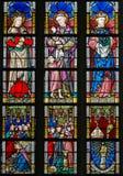 Stained Glass - Catholic Saints Royalty Free Stock Image