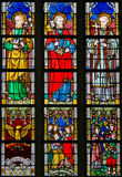 Stained Glass - Catholic Saints Royalty Free Stock Images