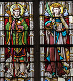 Stained Glass - Catholic Saints Royalty Free Stock Image