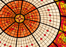 Stained Glass Ceiling. A stained glass dome in a luxurious hotel Stock Image