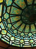 stained glass on a ceiling stock photography