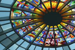 Stained Glass Ceiling during Daytime Stock Photography