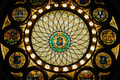 Stained glass ceiling, Massachusetts State House royalty free stock photography