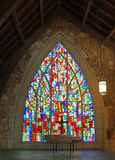 Stained Glass at the Chapel in Callaway Gardens Stock Photos