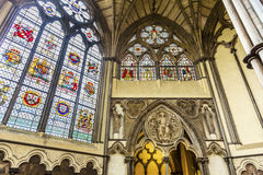 Stained Glass Chapter House Westminster Abbey London England Royalty Free Stock Images