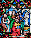 Stained Glass - Charles the Bald Royalty Free Stock Images
