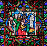 Stained Glass - Charles the Bald Stock Photography