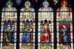 Stained glass from Chartres Cathedral stock photography