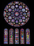 Stained Glass at Chartres Cathedral Royalty Free Stock Photo