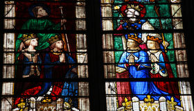 Stained Glass at Chartres Cathedral Stock Images