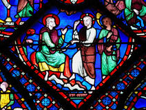 Stained Glass at Chartres Cathedral Stock Image