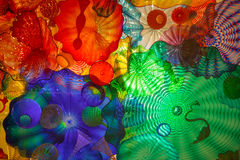 Stained Glass at Chihuly Garden and Glass Stock Image