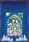 Stained Glass Christmas Stock Image