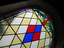 Stained glass in church. Stained glass window Royalty Free Stock Photo