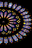 Stained glass of church. Semicircle stained glass of church royalty free stock images