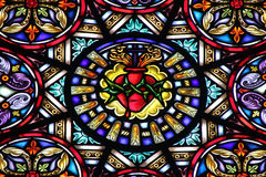 Stained glass church Royalty Free Stock Images