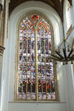 Stained glass in the church. Royalty Free Stock Photography