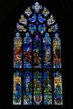 Stained glass in church Royalty Free Stock Images