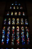 Stained glass of the church of the annunciation Royalty Free Stock Photo