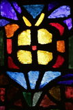 Stained glass of the church of the annunciation Stock Image