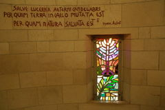 Stained glass of the church of the annunciation Royalty Free Stock Images