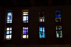 Stained glass of the church of the annunciation Royalty Free Stock Image