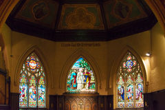 Stained Glass in Church of the Redeemer, Toronto Stock Photo