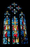 Stained glass in the church Royalty Free Stock Images