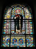 Stained glass in the church stock image
